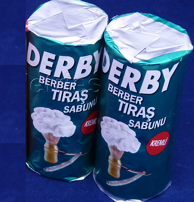 DERBY SHAVING Best Barbers SOAP STICKS New 2 x (75g) FREE SHIPPING 5.3oz