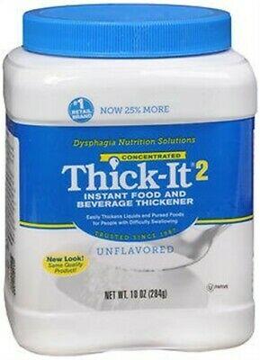 New Thick-It 2 Instant Food And Beverage Thickener Unflavored-10 Oz