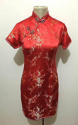 VINTAGE '80 Abito Vestito Donna Orientale Seta Orient Silk Woman Dress Sz.S - 42
