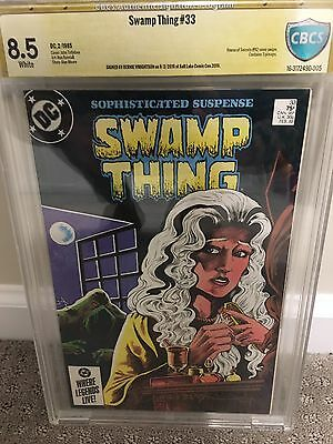 SWAMP THING #33 CBCS 8.5 Bernie Wrightson Signed (Not cgc ss ) alan moore