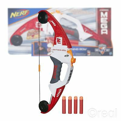 New Nerf N-Strike Elite Mega Lightning Bow & Soft Darts Blaster Official