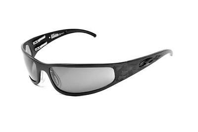 NEW ICICLES Baby Bagger Transition Mirror Lens Sunglass with Black Flames Frame