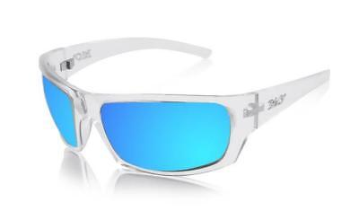 NEW ICICLES BLC Stinger Blue Mirror Lens Sunglasses with Crystal Durable Frames