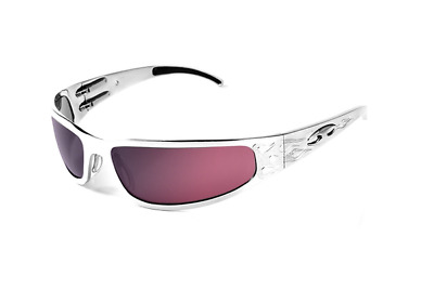 NEW ICICLES Baby Bagger HD Road Lens Mirror Sunglasses with Silver Flames Frame