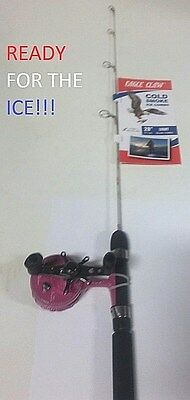 1 Eagle Claw 28' Pink Cold Smoke Inline Ice Combo (ECDSGILP28LC) EB040104