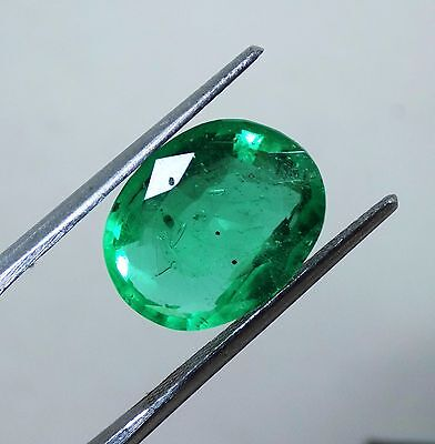 6.60 Ct Natural Certified Oval Shape Beautiful Colombian Green Emerald Gemstone