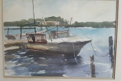 20th Century ORIGINAL WATERCOLOR Signed by ARTIST DEWBERRY, Thomas?  American