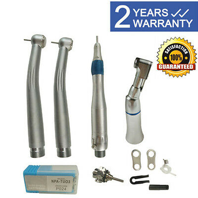 NSK type Dental Pana Max High&Low Speed Handpiece kit Push Button 2Hole w/ Case