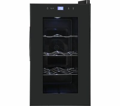 Currys Essentials CWC8B15 Wine 8-Bottle Cooler Black 8-18°C 160 kWh 24 litres