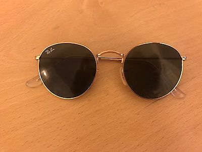 Ray Ban Round Metal Classic RB3447 Sunglasses In Gold With Case