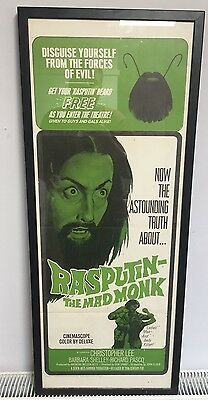 Original Rasputin The Mad Monk Movie Film Poster 1966 Christopher Lee Hammer