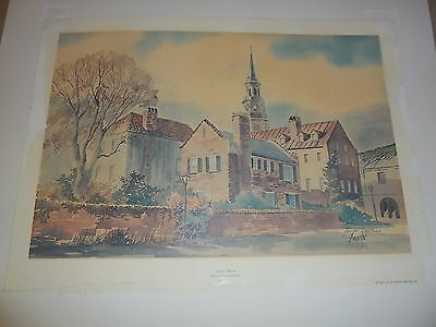 Fouche Print 543 Of 2000 Signed Charleston Sc Vintage Collect Art Sale