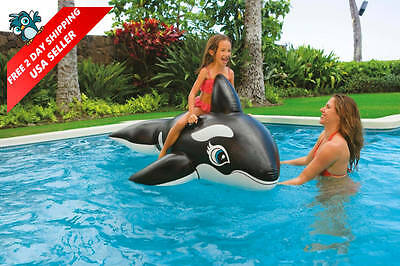BIG Inflatable Float Whale Ride On Swimming Pool Toys Kids Fun Cute Nice Water