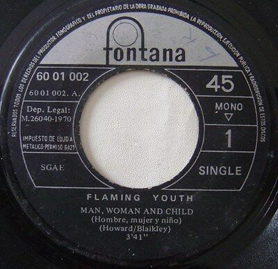 FLAMING YOUTH man woman and child / drifting SPAIN 45 PHILIPS 70 PROG*P.COLLINS