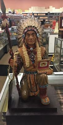 "Cuesta Rey Limited Edition Chief ""centro Fino"" Collectible Cigar Store Indian"