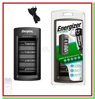 """Caricabatterie Energizer Accu Recharge Universal Lcd X Aa Aaa 9V D C """"corriere"""""""