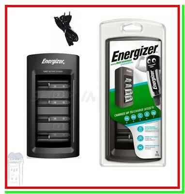 Caricabatterie per Pile Ricaricabili ENERGIZER UNIVERSAL LCD X AA AAA 9V D C