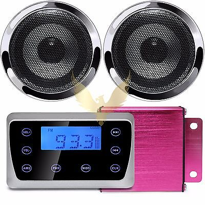 Motorcycle Bluetooth Wireless Speakers Stereo Audio System MP3 USB Radio Harley