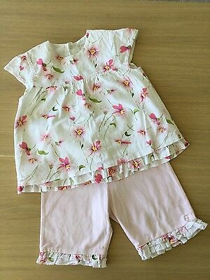 Emile et rose baby girl, 18 months top and trouser set, summer