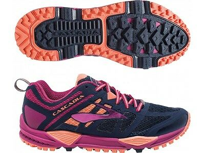 Brooks Cascadia 11 Off Road Trail Track Cushion Me Running Shoes Trainers Size 8