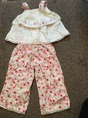 Stunning Lily Rio Outfit Top Cropped Trousers 2-3 Years New. Rare