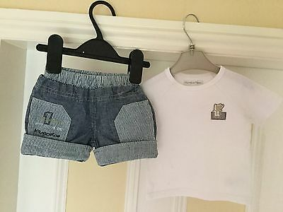 Baby Boys Shorts & Tee Shirt (3 months )