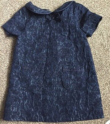 girls dress with peter pan collar, age 9-12 months, fab condition, from next