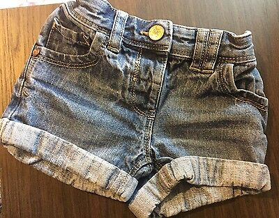 Baby Girls Denim Shorts Next Age 12-18 Months
