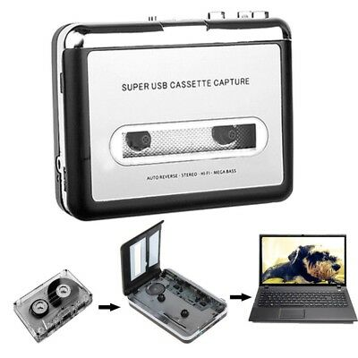 USB Cassette tape to MP3 Converter to PC Capture Adapter Audio Music Player
