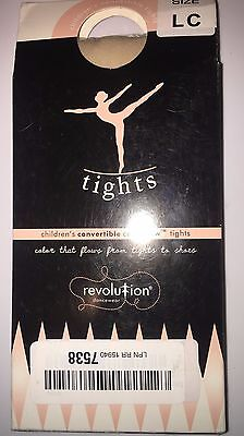Revolution Dancewear Color Flow Convertible Childs Tights, LC, Classic Pink