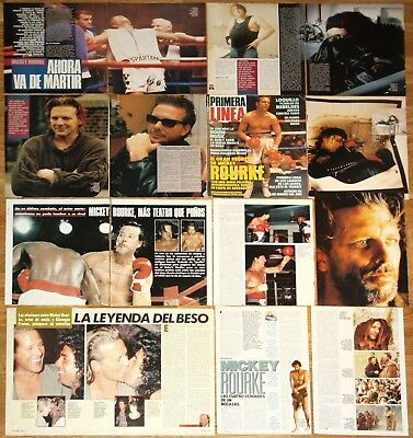 MICKEY ROURKE spain clippings 1980s/1990s photos magazine articles actor cinema