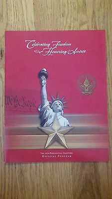 2005 President George W. Bush 55th Presidential Inaugural Official Program