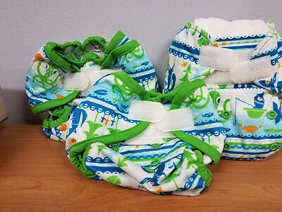 New Rumparooz Cloth Diaper Whale Tail Set Newborn Cover, OS Cover & Pocket