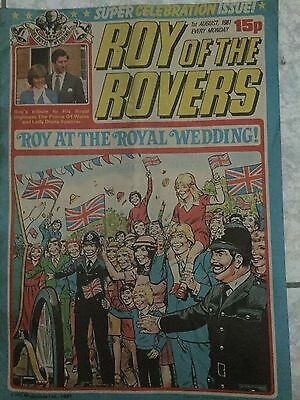 Roy of the Rovers (Roy at the royal wedding) comic