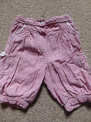 Baby Girl Cropped Trousers Monsoon 12 - 18 Months