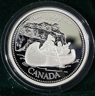 1999 Canadian Sterling Silver 25 cent Millennium coin May