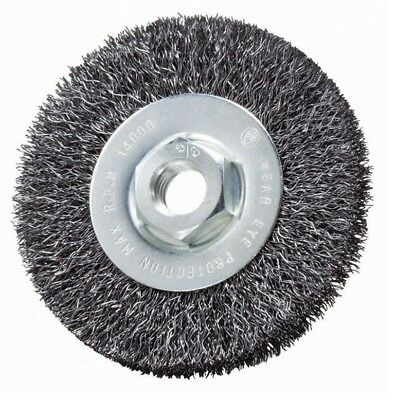 "4"" x 1/2"" x 5/8-11"" Crimped Wire Wheel Brush (Carbon Steel) Deburring Wire Brush"