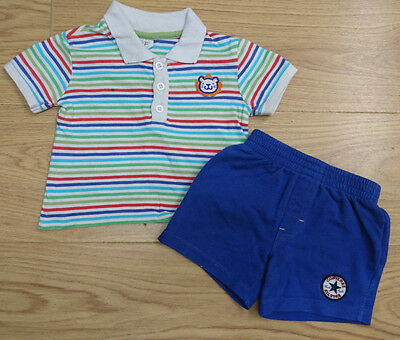 Converse F&f Baby Boys Bundle Age 9-12 Months Polo Top Shirt Shorts