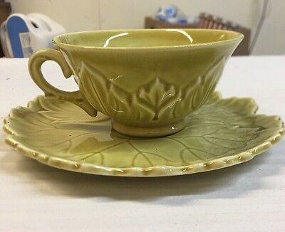 1940s Woodfield Steubenville Golden Fawn Flat Cup Saucer