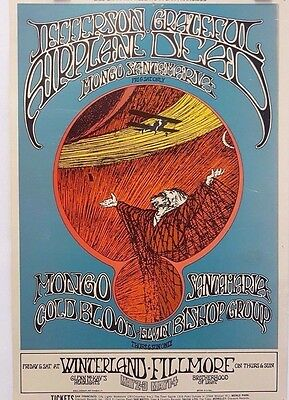 Grateful Dead & Jefferson Airplane BG171-1 by Randy Tuten | Orig. 1969  Poster