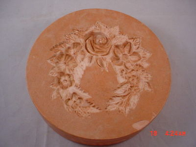 Antique German Chocolate Mould Mold Plaster/Clay Floral Rare