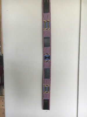 "2 1/2"" X 34 3/4"" Crow Beaded Belt Antique Indian Native American"