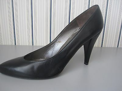 Women's CHARLES JOURDAN  9.5 MEDIUM Black Leather SHOES NEW