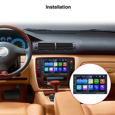 "7"" Double 2 Din Car MP5 Audio Player Radio Stereo GPS MP3 USB Bluetooth Camera"