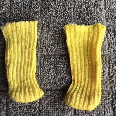 Vintage Vogue Ginny Yellow Socks Knee Length Fold Down