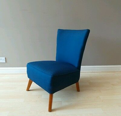 Vintage mid century TWINWOOD blue 1950s 60s cocktail chair atomic retro DELIVERY