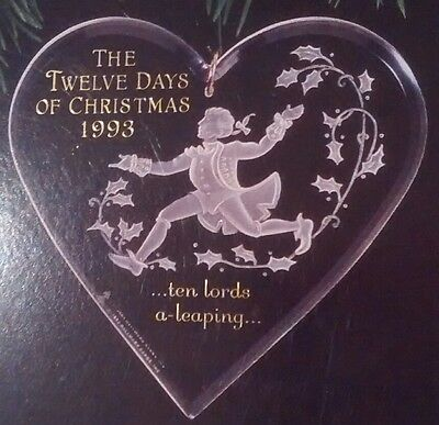 1993 Keepsake Ornament TEN LORDS A LEAPING 12 Days of Christmas Series New!