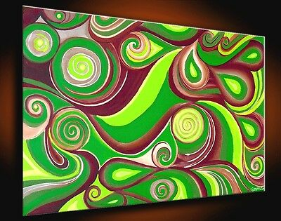 LARGE OIL PAINTING Abstract signed ART MODERN CANVAS WALL original decor home