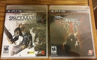 lot of 2 new sealed PS3 games, Space Marine, Darkness