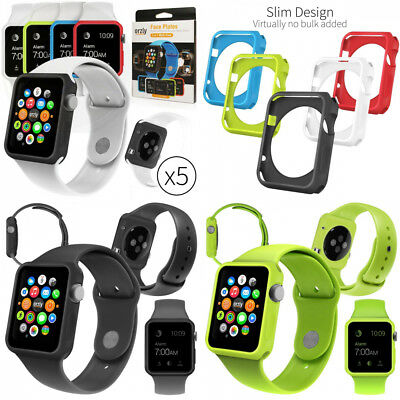 Orzly Interchangeable Silicon Gel Covers For Apple Watch 38 Mm Pack Of 5 New
